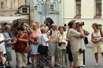 Vilnius-tourists
